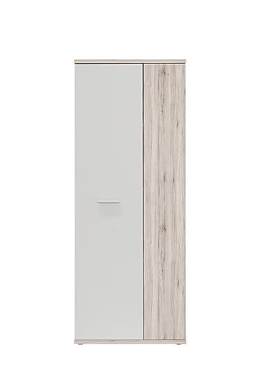 NEWFACE Net106 Mehrzweckschrank, Holz, sandeiche + weiß, 68.90 x ...