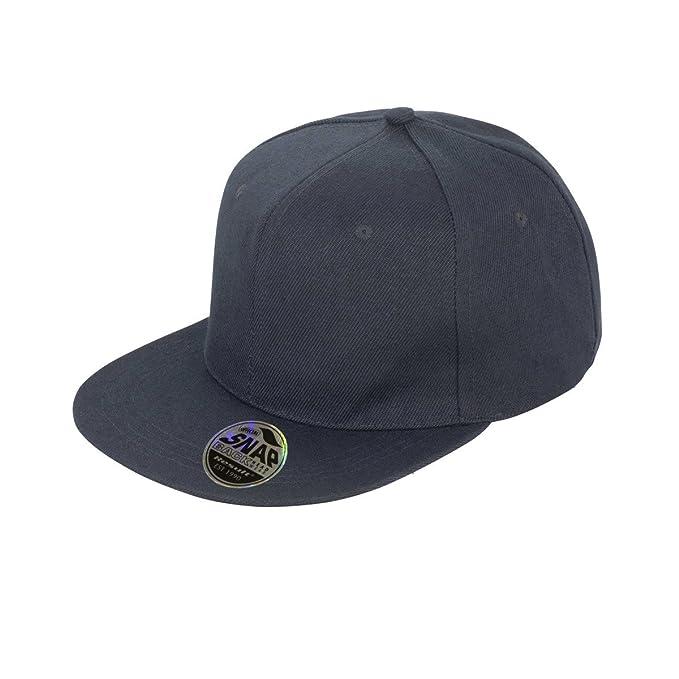 31088fac05c Result Unisex Core Bronx Original Flat Peak Snapback Solid Colour Cap (One  Size) (Black)  Amazon.co.uk  Clothing