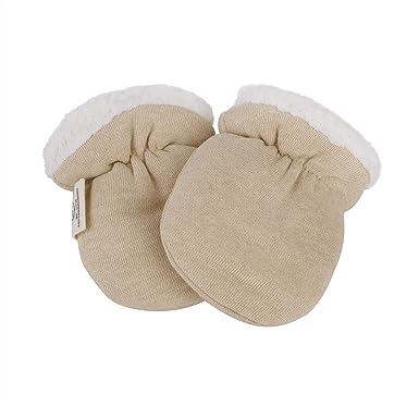 6a6c6037a63 Gants bébé Hiver Doublure Peluche Moufles naissance Gants Moufle bébé  nouveau né en coton biologique Mignon