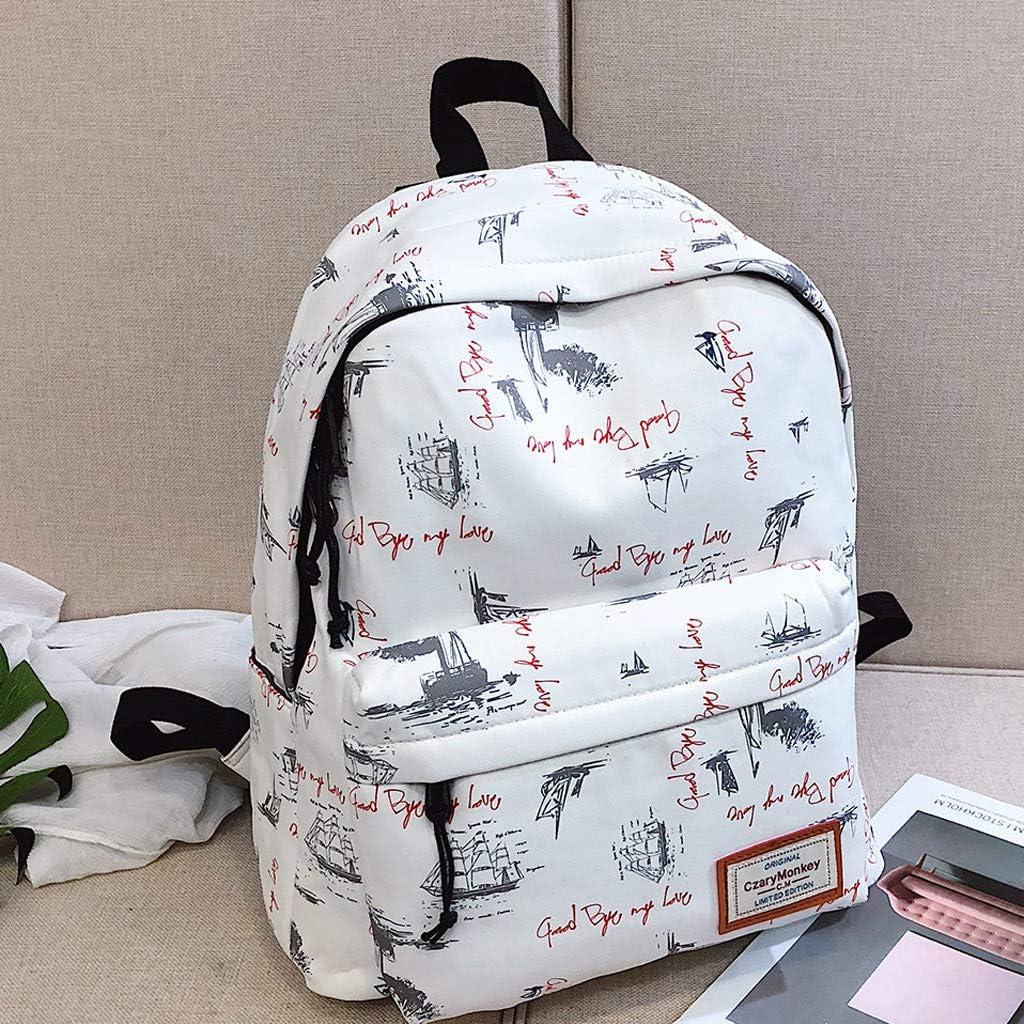 Les Loisirs KaloryWee Sac /à Dos Scolaire Fille en Nylon Cartoon Mode Imprim/é Grande Capacit/é Sac D/épaule Cartable Backpack pour L/école Les Voyages