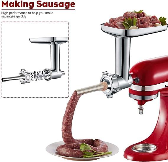 3 Pcs Set Sausage Stuffer Stuffing Tubes Meat Grinder Kitchen Aid Stand Hot Sale