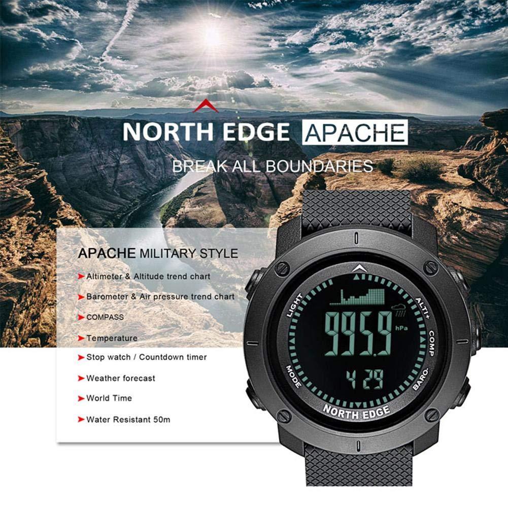 Oshide Mens New Style Sport Reloj Digital Horas Deportes al aire libre Correr Natación Ejército Militar Multifuncional Relojes Inteligentes Altímetro ...