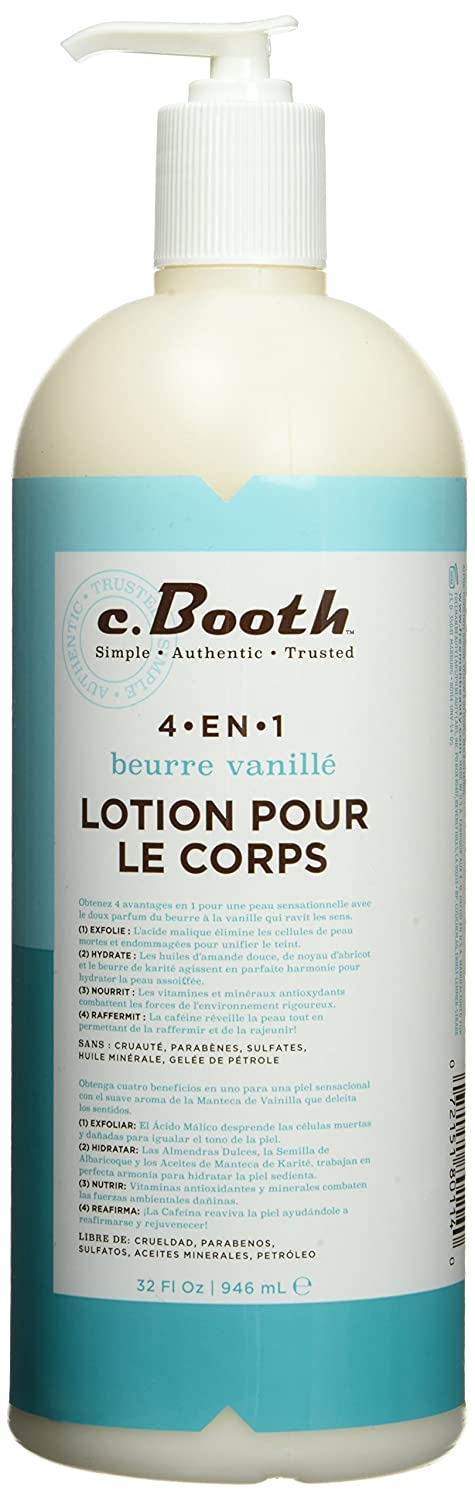 Amazon.com : C. Booth 4-In-1 Multi-Action Body Lotion, Vanilla Butter, 32 Fluid Ounce : Beauty