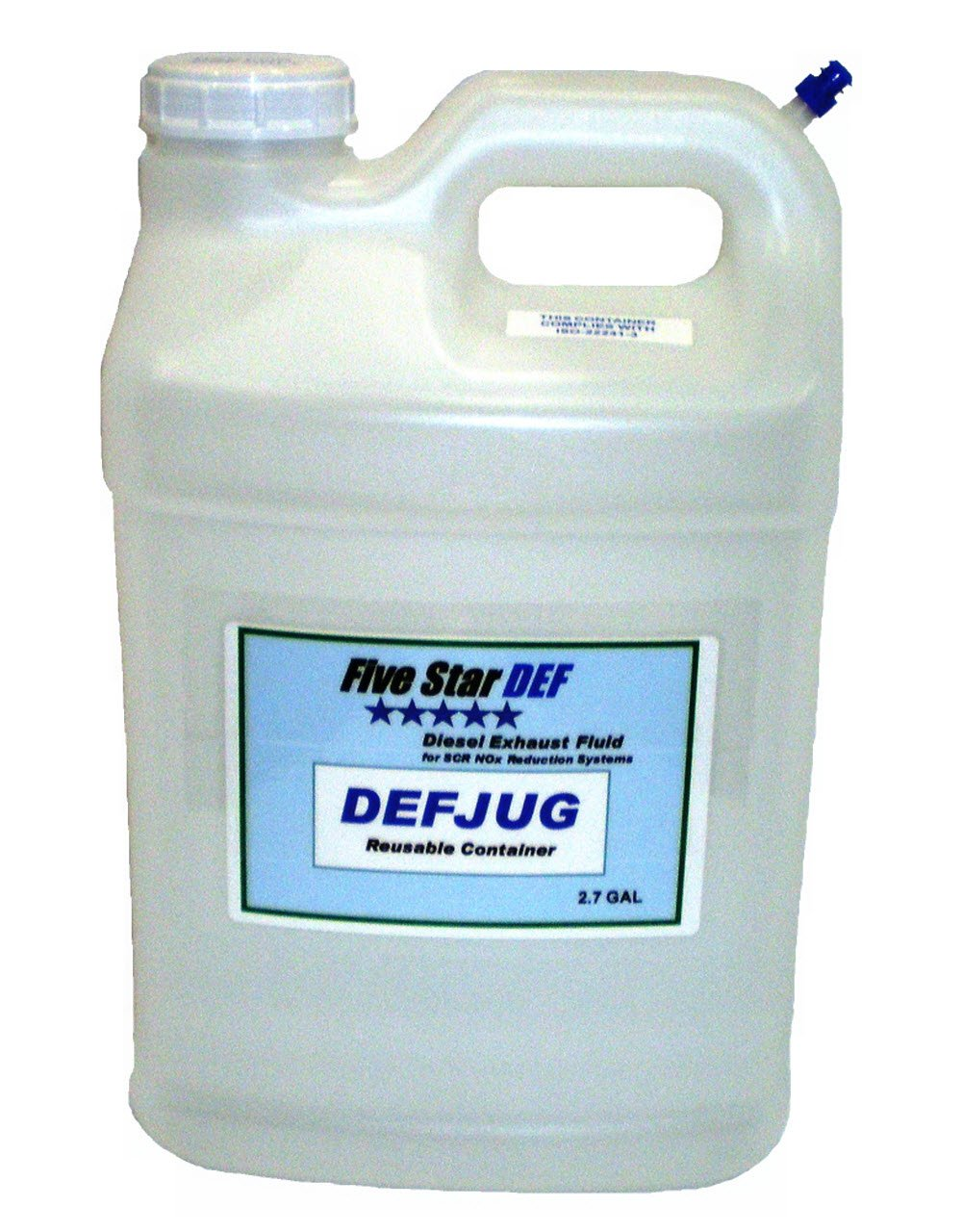 Five Star DEF 2.7 Gallon Reusable DEF JUG with 63/445 DEFSPOUT for Storing DEF by Five Star DEF (Image #1)