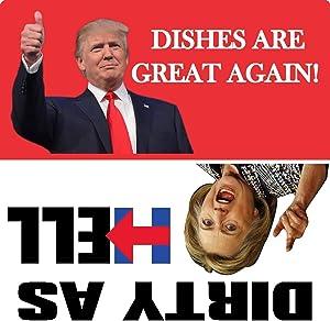 "Trump 2020 MAGA Dishwasher Magnet Anti Democrat Crooked Hillary Political 5"""