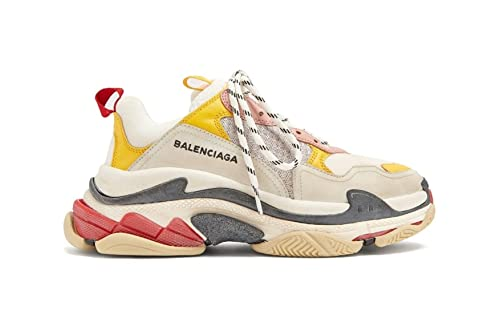 Balenciaga Triple S Sneakers Cream Yellow Red Unisex Hombre Mujer Balenciaga  Zapatillas  Amazon.es  Zapatos y complementos f76189725de9