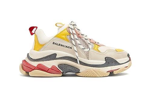 Hombre S Unisex Balenciaga Red Sneakers Cream Triple Mujer Yellow xvFxq4waP6