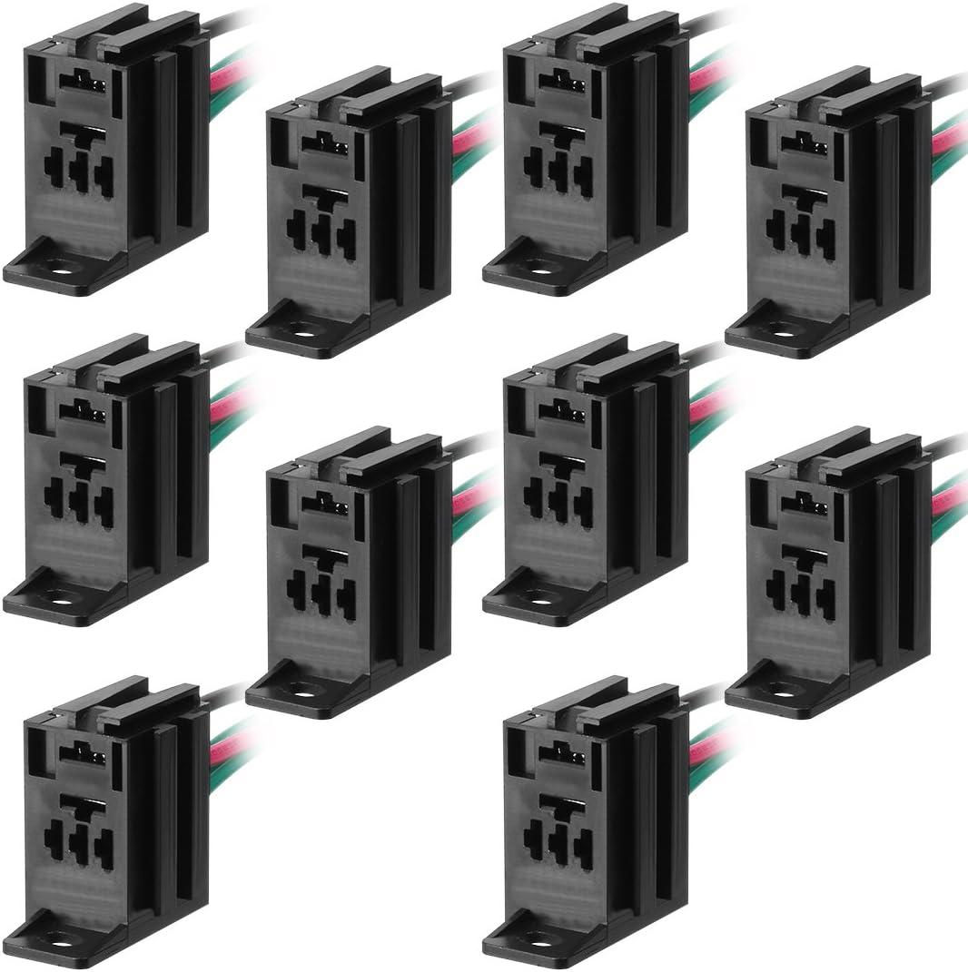 sourcing map 4 Terminales de conector del mazo de cables de la toma del relé para alquiler de carretilla DC 12V/24V 5Pin-10PCS