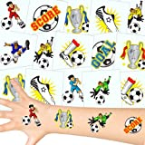 German Trendseller Fußball Tattoos Set ┃ Neu ┃ Fußball Party ┃ Kindergeburtstag ┃ Mitgebsel ┃36 Tattoos
