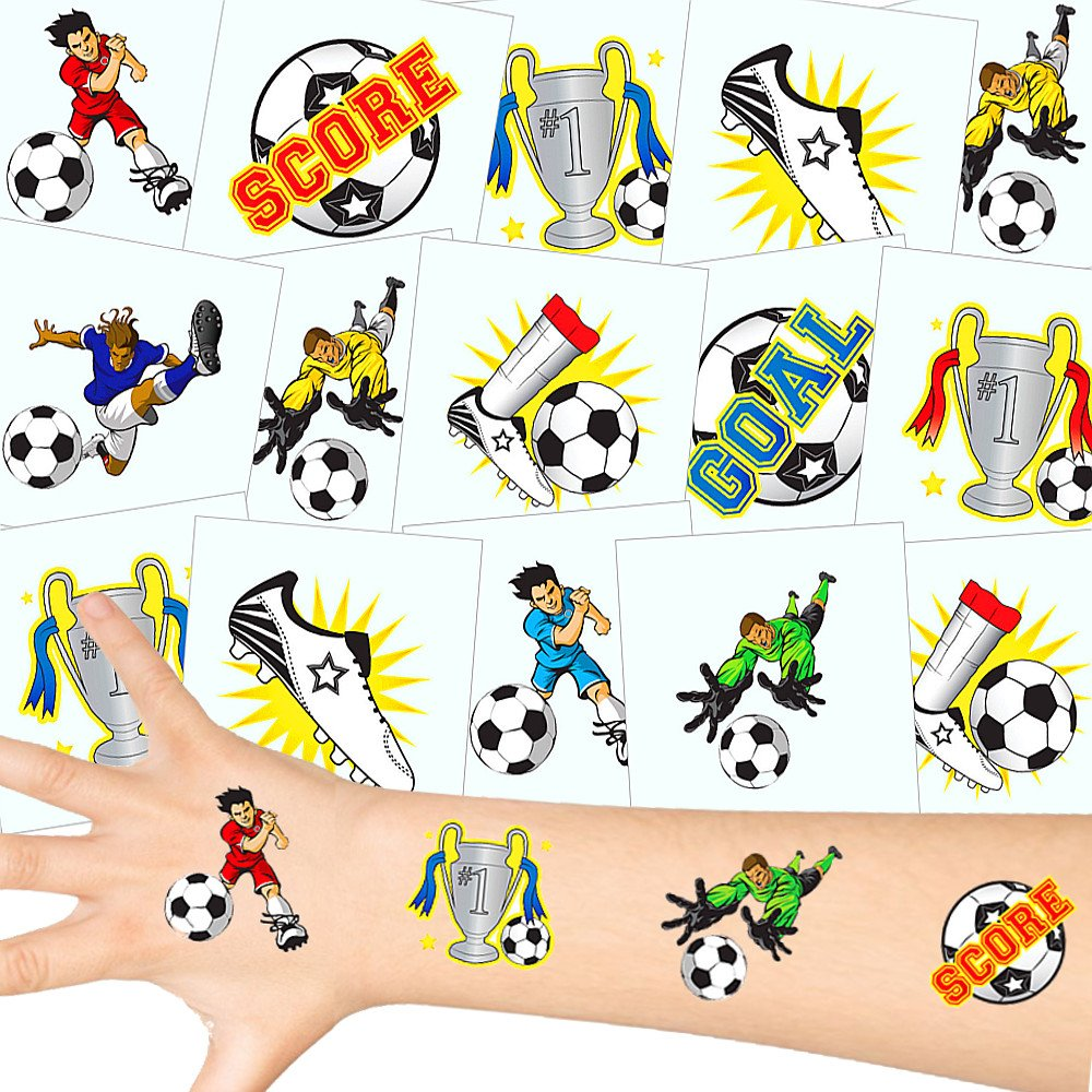 72 x Tatuajes temporales f/útbol┃ Fiestas Infantiles┃ Idea de Regalo┃pi/ñata┃cumplea/ños de ni/ños┃ 72 Unidades/… German Trendseller