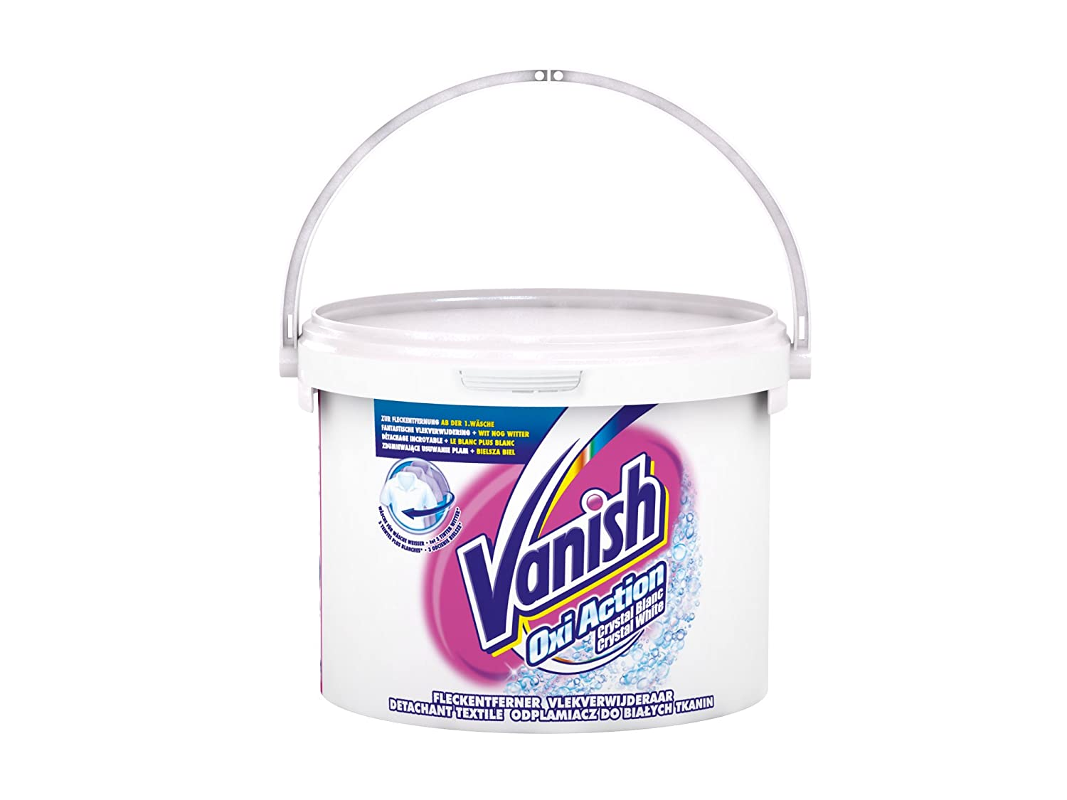 Vanish Quitamanchas Polvo Oxi Action Crystal White Profesional 2,4kg: Amazon.es: Amazon Pantry