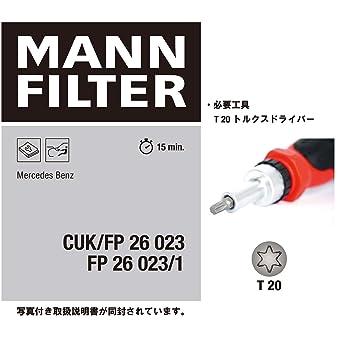 Mann Filter Fp 26 023 1 Filter Innenraumluft Gewerbe Industrie Wissenschaft
