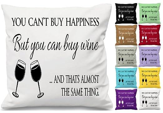 Usted puede comprar felicidad cita cojín manta funda de ...