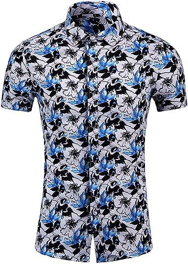 Sylar Camisa Hawaiana Hombre Manga Corta Verano Casual Slim fit Camisetas Manga Corta Flores Estampado Blusa de Playa Vacaciones T-Shirt Tops M/L/XL/2XL/3XL/4XL/5XL/6XL: Amazon.es: Ropa y accesorios