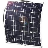 GIARIDE Solmodul 18 V 12 V 50 W Solpanel monokristallin solcell solcell solladdare flexibel med MC4 laddningskabel för…