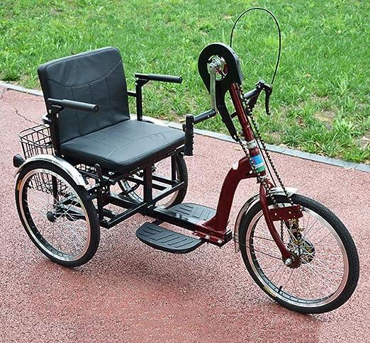 BTHDPP Bicicleta De Tres Ruedas Hand Shake para Discapacitados ...