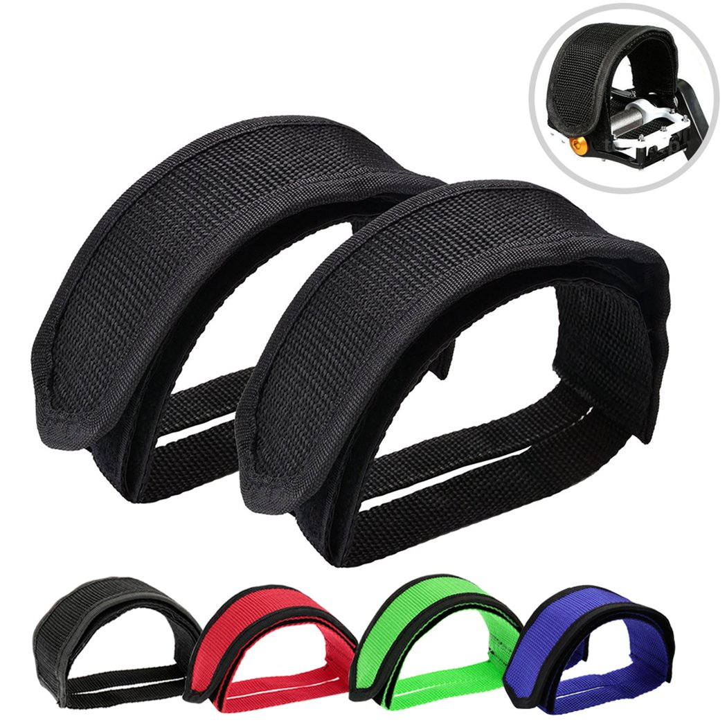 Bike Pedal Clips >> Outgeek 1 Pair Bike Pedal Straps Pedal Toe Clips Straps Tape For Fixed Gear Bike