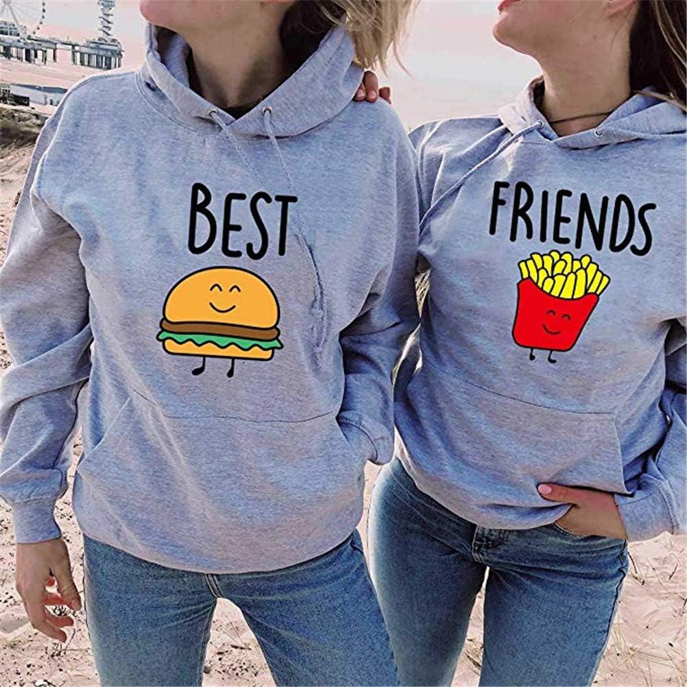 Sweat /à Capuche Best Friends pour Deux Soeurs Sweat /À Capuche Amis BFF Pullover Soeur Hoodie Sweat Sweatshirt Femme 1 Pi/èce