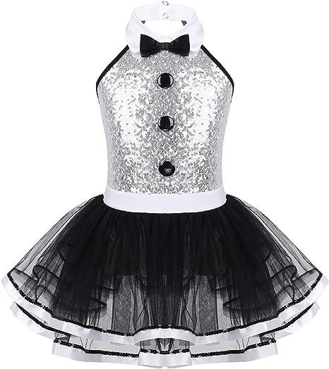 Alvivi Vestido de ballet para niña, cosplay, circo, espectáculo ...