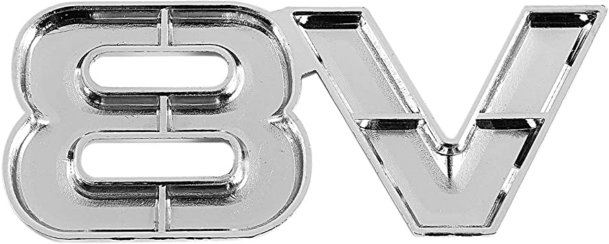 Sodial 3d Silber Auto Motor V8 Auto Heck Emblem Aufkleber Abzeichen Aufkleber 7 5x3 5 Cm Auto