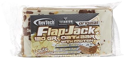 Revtech Flapjack, Suplemento para Deportistas, Sabor a Chocolate Blanco - 24 Flapjacks
