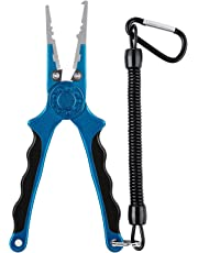 Piscifun Aluminum Fishing Pliers Braid Cutters Split Ring Pliers Hook Remover Fish Holder with Sheath and Lanyard