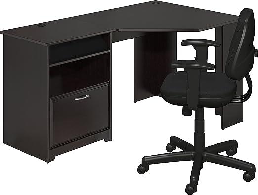 Bush Furniture Cabot Corner Desk in Espresso Oak