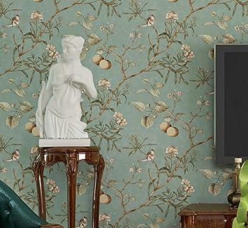 ccfeng pvc tapete vintage alten vogel tapete muster schlafzimmer wohnzimmer hintergrund vliestapete pastoralen tapeten high - Tapeten Mit Muster