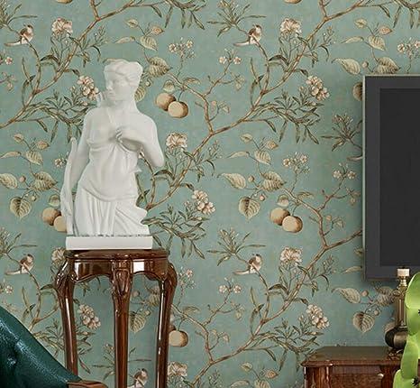 CCFENG PVC-Tapete Vintage Alten Vogel Tapete Muster ...