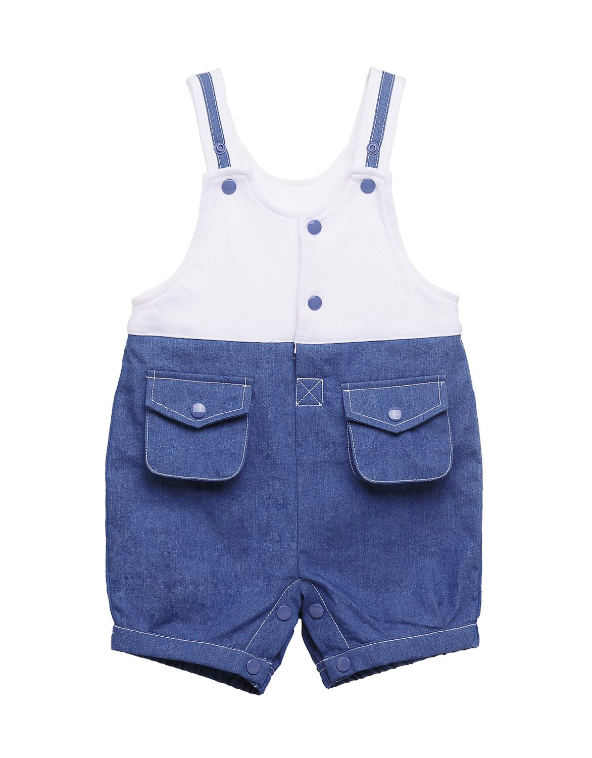 DEBAIJIA Kids Baby Boys Girls Knit Dungarees Bib Overalls Shorts Summer Clothes Outfits Pants Two Pockets