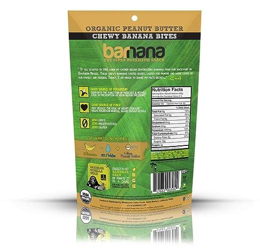 amazon com barnana chewy peanut butter bites melt risk advisory organic banana snacks 3 5 ounce