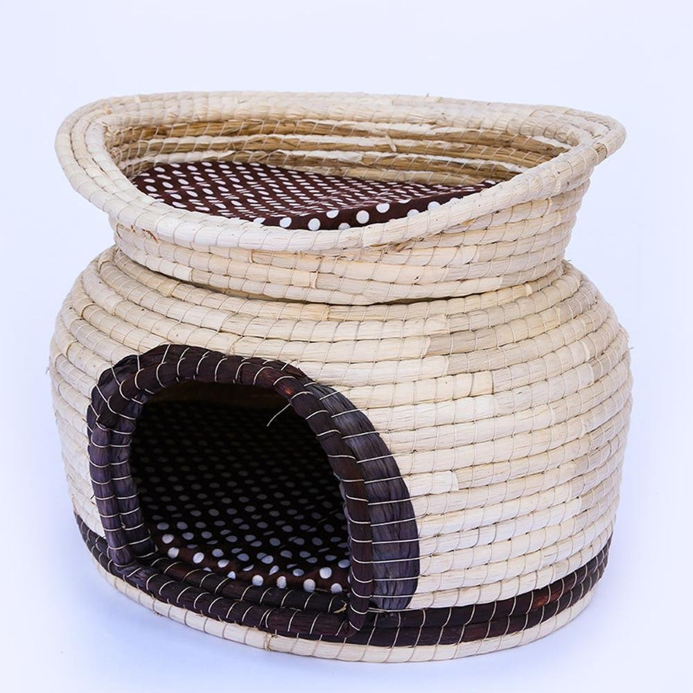 Weiwei Double Kennel Simple Beautiful Breathable pet Litter Home pet cat Litter Hand Woven
