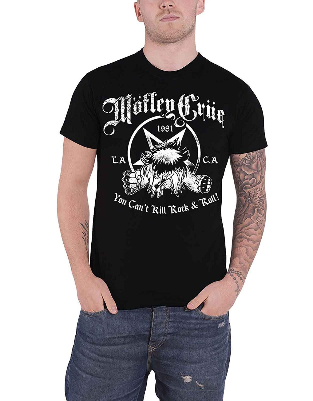Llwflpb T Shirt You Cant Kill Rock Roll Band Logo S Black