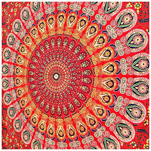 Wall Hanging Tapestries Mandala Tapestries Throw Bedspread Red Peacock Hippie Hippie Wall Tapestry Superior Quality