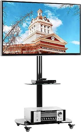 RFIVER TF8001 - Soporte de pie para televisor con estantes y Ruedas con Cerradura para la mayoría de televisores de 32 a 65 Pulgadas, Soporte Giratorio y Ajuste de Altura: Amazon.es: Juguetes