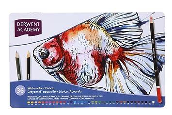 Derwent Watercolour Pencils 36 Tin NEW /& IMPROVED
