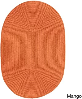 product image for Rhody Rug Venice Indoor/Outdoor Oval Braided Rug (2' x 3') Orange