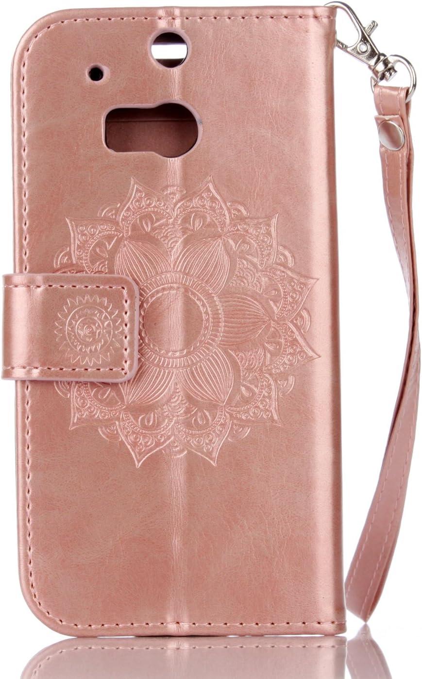 Pink Huphant Compatible for Handyh/ülle HTC One M8 H/ülle Leder Glitzer Handytasche Strass Krone Brieftasche Klapph/ülle Kartenf/ächer Flip Case for HTC One M8 SchutzH/ülle