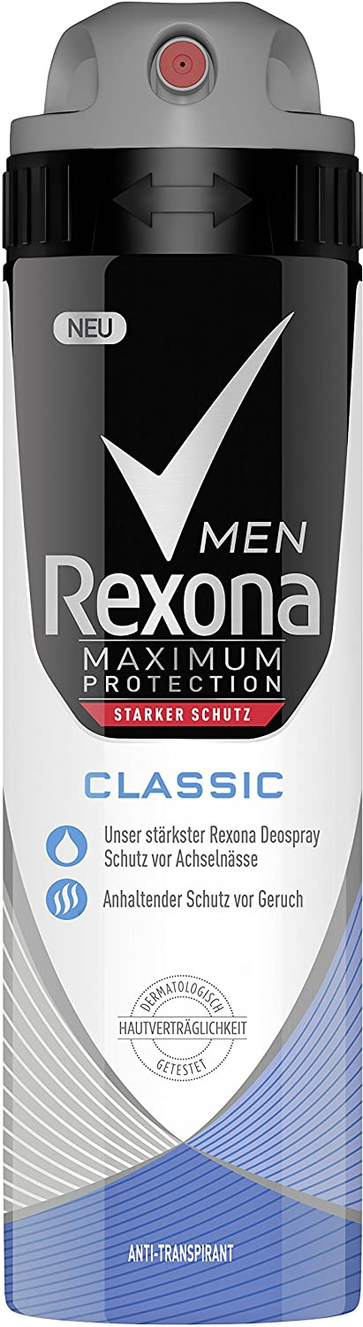 Rexona Men Deospray Maximum Protection Classic Anti-Transpirant, 3er Pack (3 x 150 ml) 8710447436769