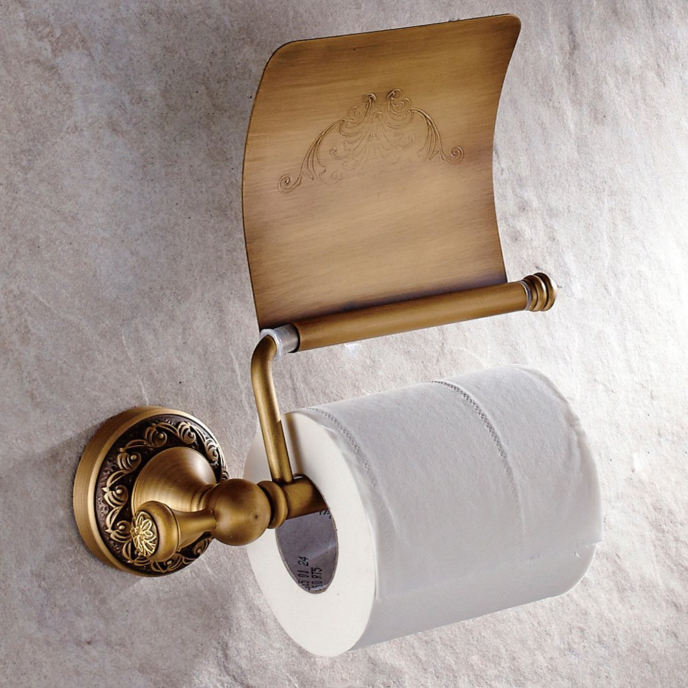 CASEWIND Anneau Porte Serviette Court et Carr/é en Laiton de Haute Qualit/é Fixation Murale Pratique pour /Économie d/'Espace Support de Serviette Style Antique pour Salle de Bain Toilette Cuisine