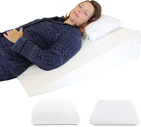 medslant acid reflux wedge pillow us made breathe memory foam overlay removable microfiber cover extra allergen cover 31x28x7 recommended