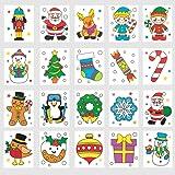 Baker Ross Calcomanías navideñas temporales (Pack de 24) Bolsas y Calcetines Sorpresa de Fiestas