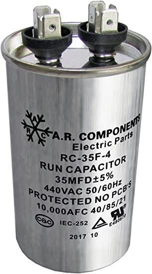 1 Pack of RUN CAPACITOR 40 MFD 440 VAC ROUND CAN UL Certified