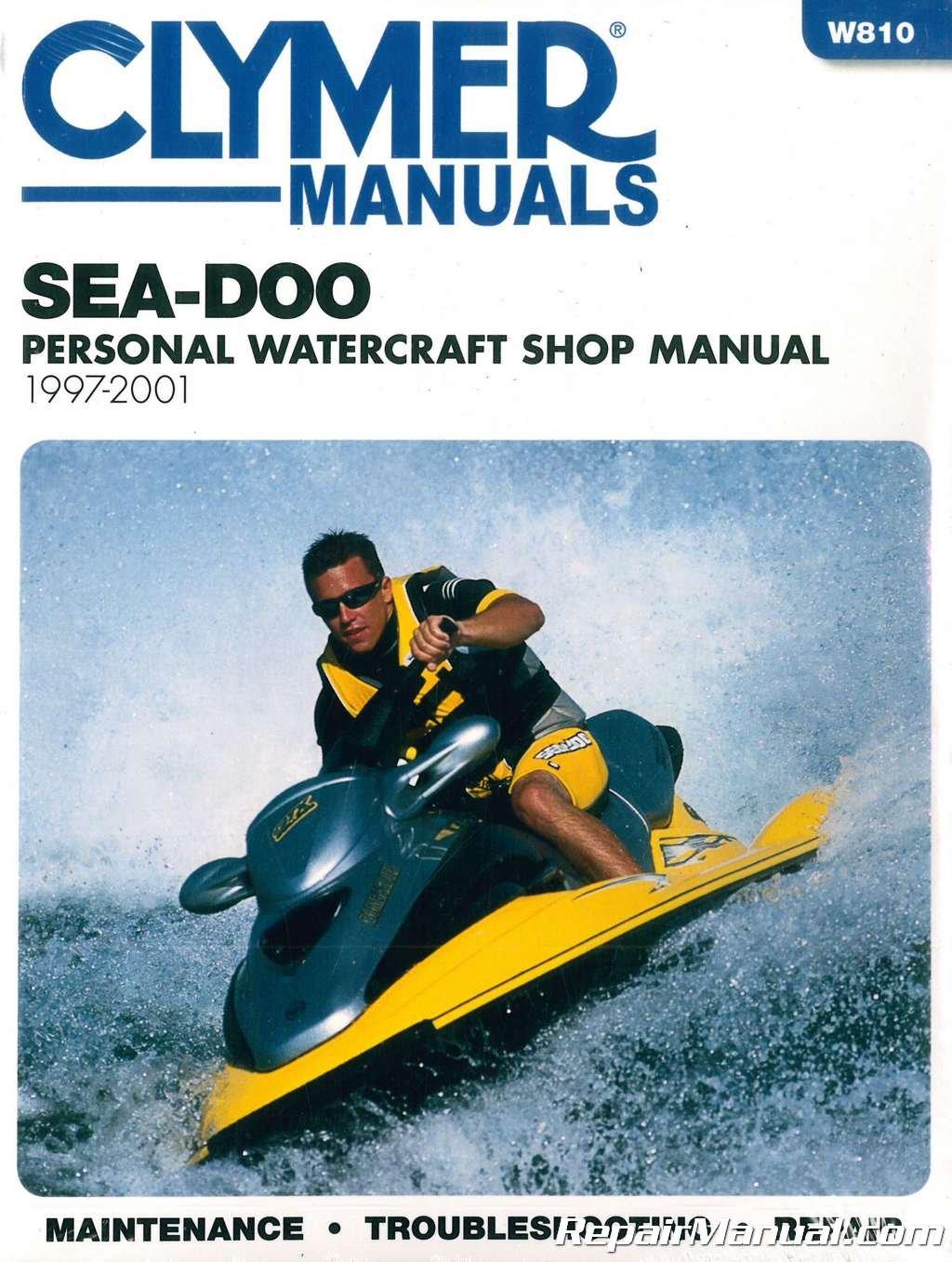 W810 Sea-Doo Water Vehicles 1997-2001 Clymer PWC Shop Manual: Manufacturer:  Amazon.com: Books