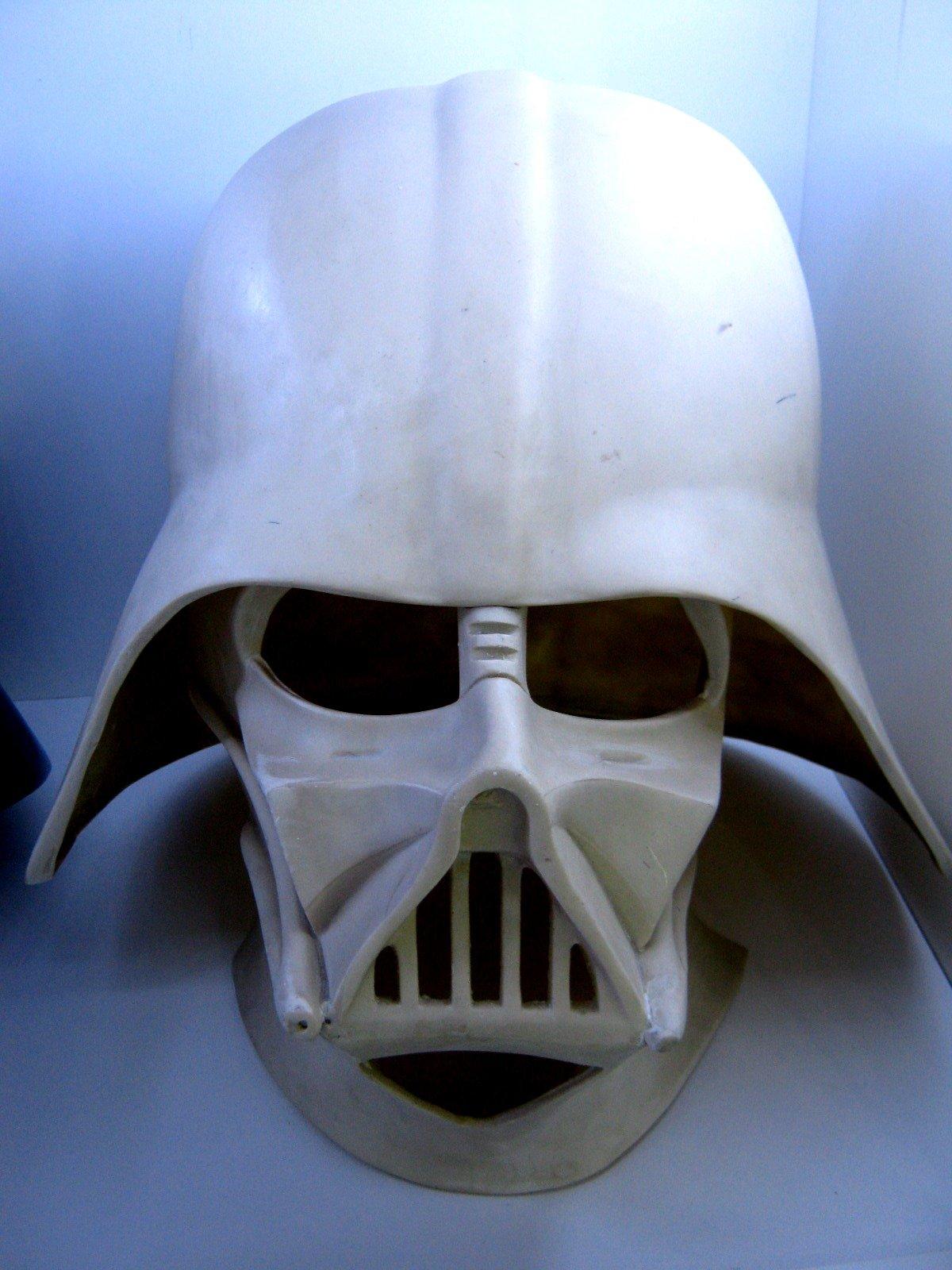 1:1 Star Wars Darth Vader Fiber Glass 2 Piece Raw Cast Helmet