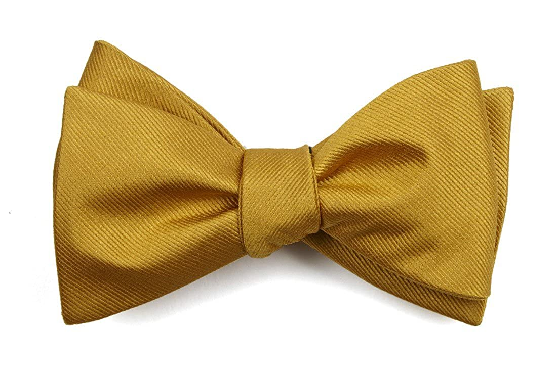 The Tie Bar Grosgrain Solid 100/% Woven Silk Bow Tie
