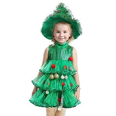 9e7e3c034a73e La Vogue Robe Tutu Tulle Enfant Fille Bébé Costume Déguisement Arbre Vert  Noël