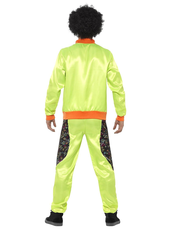 Smiffys Chándal Retro de Tactel, para Hombre, Verde flúor, con Chaqueta y pantalón: Amazon.es: Juguetes y juegos
