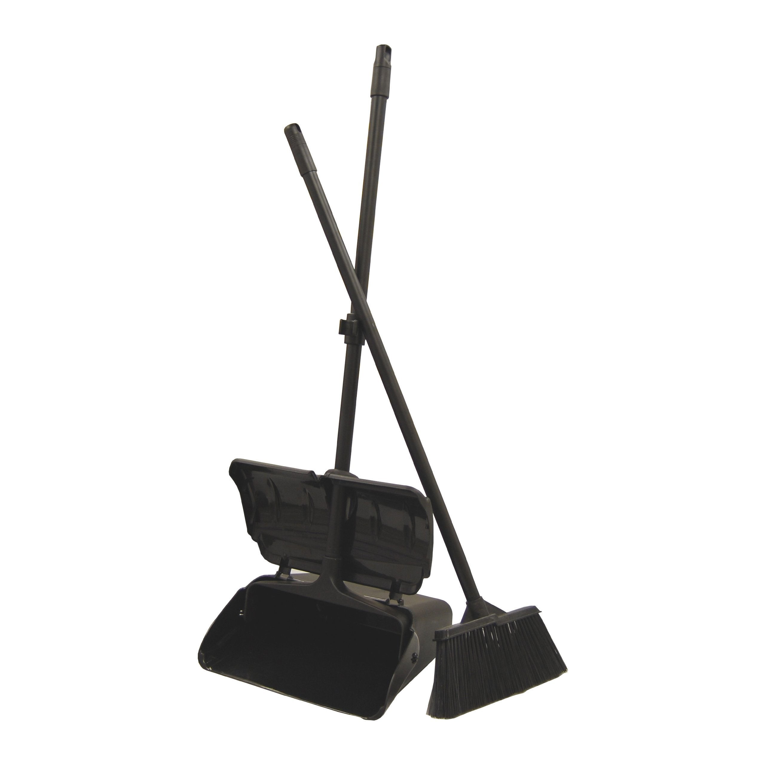 Sunnycare 13'' Lobby Dust Pan W/cover and Broom