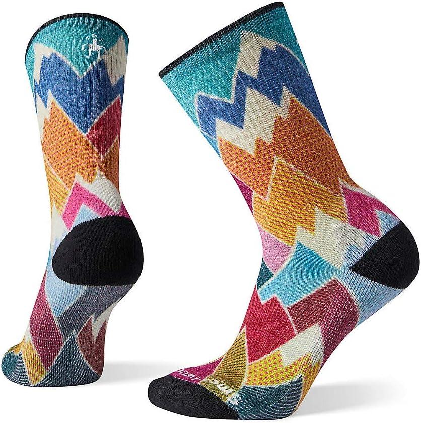 Smartwool Womens Hike Light Mountain Print Crew Socks